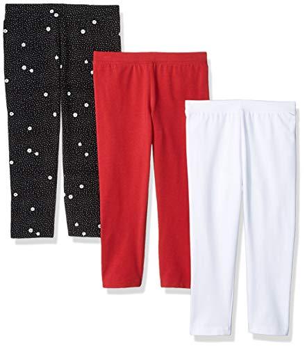 Amazon Essentials 3-Pack Capri leggings-pants, Pineapple/Pink/White, XL -