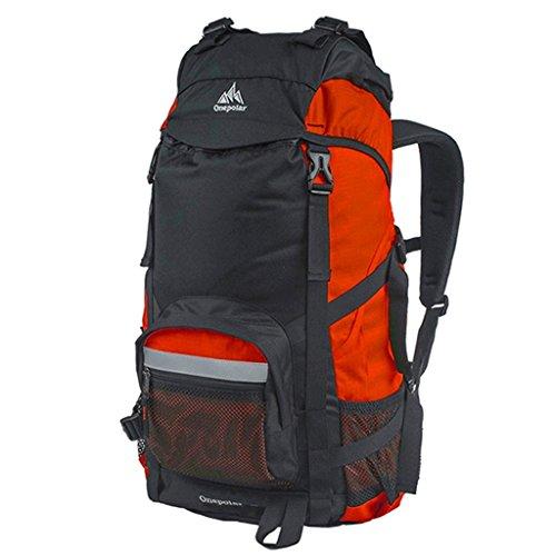 spalla sacchetto di alpinismo Polar zaino esterno maschile viaggi femminile ultraleggero escursioni e viaggi di piacere 50L grande capacità impermeabile arancione
