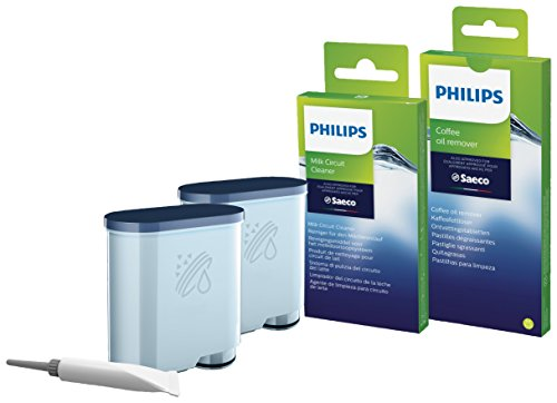 Philips CA6707/10 Rundum-Pflegeset, für Philips und Saeco Kaffeevollautomaten mit AquaClean