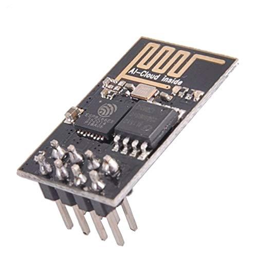 CHOULI Esp8266 Esp-01 Serielle WLAN-Steuerung Wireless Transceiver Wireless Board Module Schwarz - Proprietäre Modul