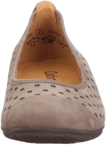 Gabor Shoes 4416913, Ballerine donna Grigio (Grau (fumo))