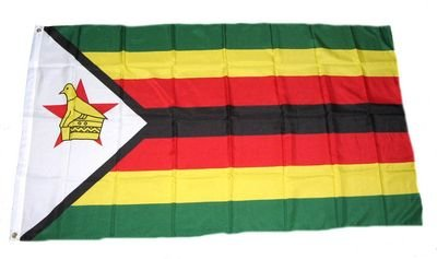 Preisvergleich Produktbild Fahne / Flagge Simbabwe Zimbabwe 90 x 150 cm Flaggen