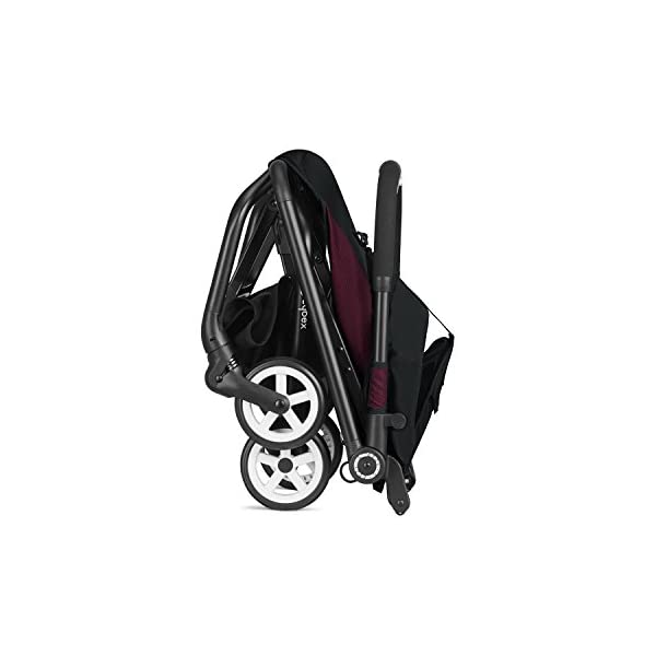 CYBEX Gold Eezy S Scuderia Ferrari Compact Pushchair, One-Hand Folding Mechanism, Lightweight, From about 6 months to 17 kg (about 4 years), Victory Black  Sturdy, High-quality Compact Pushchair for newborns up to approx. 17 kg (approx. 4 years) with one-hand folding mechanism and infinitely adjustable backrest - Including raincover for optimum use in all weather conditions Optimum comfort for parent and child: Light and easy to manoeuvre around the city thanks to a slim wheelbase with a width of just 45 cm, Comfortable sitting position thanks to infinitely adjustable backrest Simple one-hand folding mechanism for travel-friendly size - LxWxH: 25 x 45 x 53 cm, 2-in-1 travel system compatibility with separately available CYBEX and gb baby car seats 5
