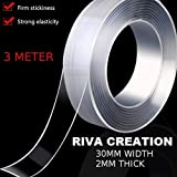 Riva Creation Reusable and Washable Double Sided Adhesive Silicon Tape with Multi-Functional Anti-Slip Double Sided Sticky Strips,Universal Anti-Slip Gel Pads Sticky Tape,Gel Tape Roll Wall Stickers