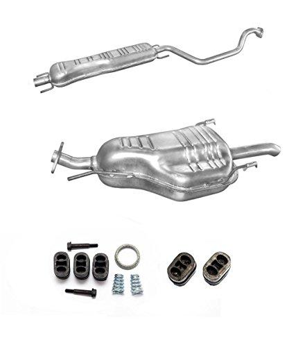 Auspuff Endtopf Mitteltopf + Montageware Ersatzteil (siehe Artikelbeschreibung) (passend für das angegebene Fahrzeug ,siehe Artikelbeschreibung)