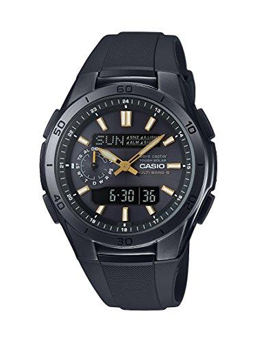 Casio WVA-M650B-1A2ER - Orologio Uomo, Analogico e Digitale, cinturino nero in resina e quadrante