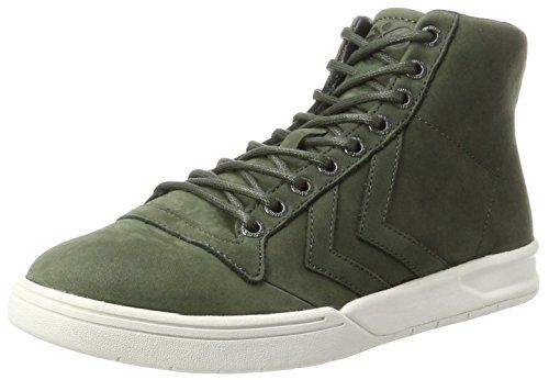 Hummel hml stadil winter high, scarpe da ginnastica alte unisex-adulto, verde (rosin), 44 eu