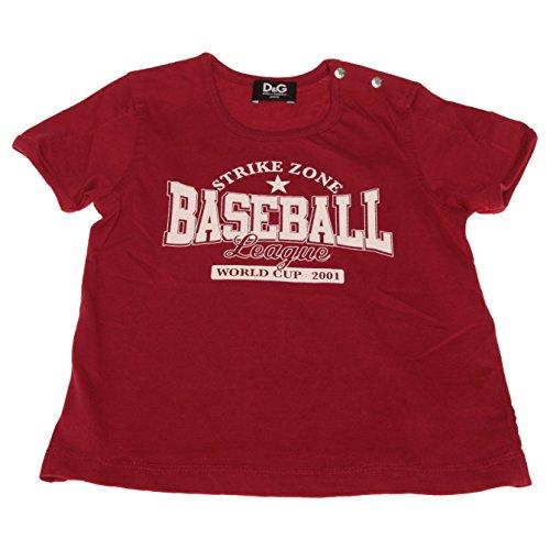 D&G Junior T-Shirt kurzärm Shirts, L1AT29_LT047_R3484, Gr. 6/9 Monat, rot