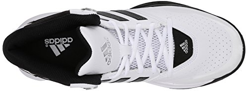 Adidas Performance outrival 2 Basketballschuh, schwarz / hell Onix / Silber Metallic, 6,5 M Us White/Black/Silver Metallic