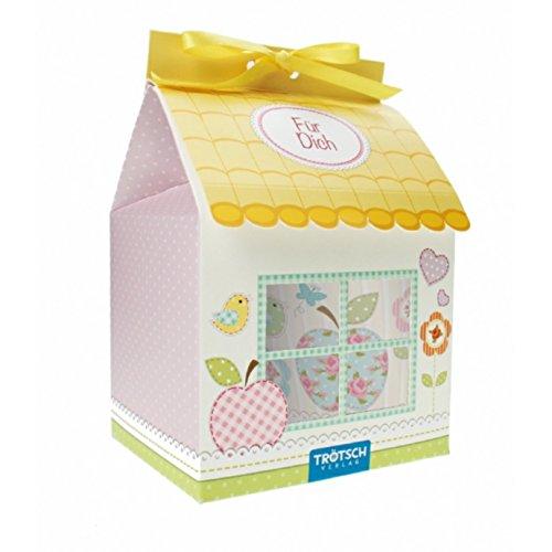 Trötsch Tasse Kaffeebecher Geschenktasse Für Dich in Farbigem Geschenkkarton mit Schmetterlingen,...