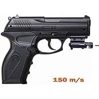 Crosman C11 + láser | Pistola de Aire comprimido (co2) y balines-perdigones de Acero BB\'s Cal 4.5mm <3,5J