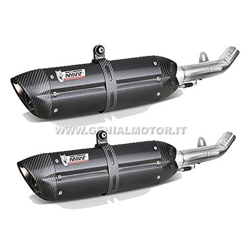 Yamaha FZ6201010Pot d'échappement Exhaust mivv Suono acier inoxydable Black underseat
