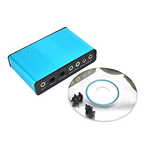Busirde USB 6-Kanal-5.1/7.1-Surround Externe Soundkarte PC Desktop Tablet Audio Optical Adapter-Karte
