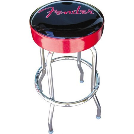 Fender chrome bar stool ( 24 inch with red logo ) 099 0205 002