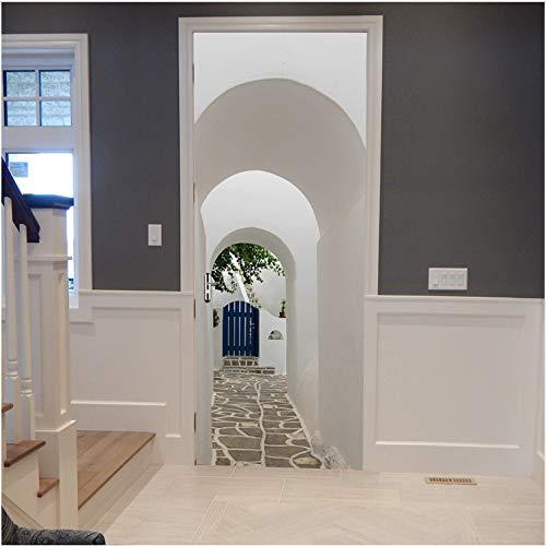 JXSTORE Kunst Tür Aufkleber 3D Fototapete Wohnzimmer gebraucht kaufen  Wird an jeden Ort in Deutschland
