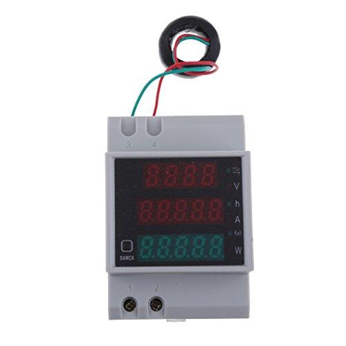 AC 80-300V D52-2047 LED Digital Din Rail Digital Multímetro De Potencia De Voltaje