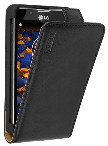 mumbi PREMIUM Leder Flip Case für LG Optimus L7 II Tasche