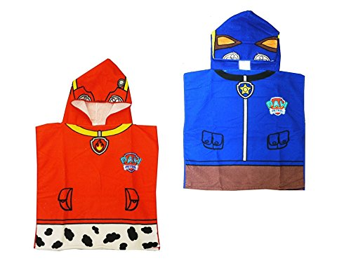 2-pack-paw-patrol-chase-marshall-hooded-poncho-childrens-hooded-bath-towel