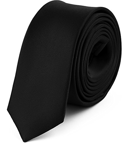 duenne krawatte Ladeheid Herren Schmale Krawatte SP-5 (150cm x 5cm, Schwarz)