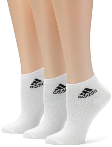 adidas Socken Ankle Rib Training 3 Pair Pack, White/Black, 35-38, Z11436