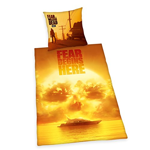 Herding Fear The Walking Dead Bettwäsche-Set, Baumwolle, rot, 135 x 200 cm
