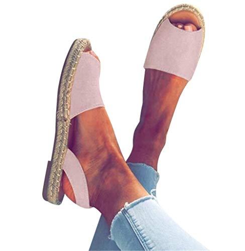 Damen Sandaletten,Tomatoa Frauen Schuh Sommerschuhe Knöchelriemchen Zehentrenner Damen Schuh Offene Flache Strandschuhe Outdoor Schuhe Gr.35-43