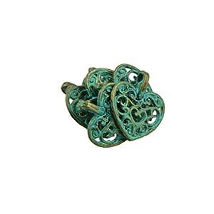 50 Stück antikes Charm-Armband Charms Herz hohle Anhänger für DIY Schmuck Basteln Geschenk Halskette Armband Findings Valentinstag Handwerk