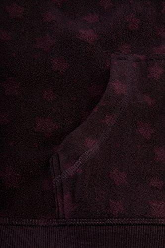 Ulla Popken Damen große Größen bis 46/48 | Fleece - Jacke | Kapuze, Muster, Langarm | Regular Fit | 701769 mitteltraube