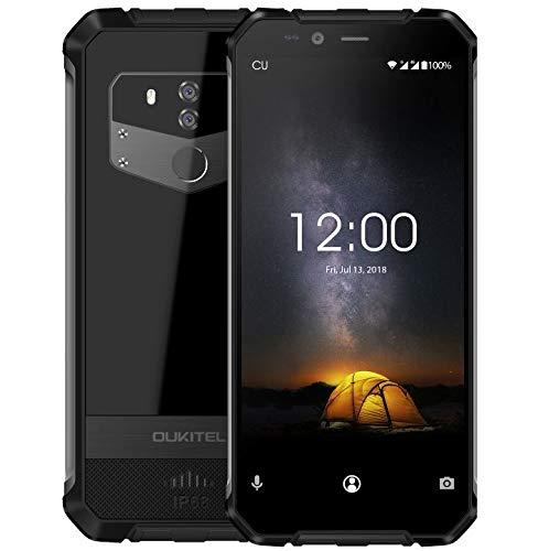 OUKITEL WP1 4G Cellulare Antiurto, IP68 Rugged Smartphone Antipolvere/Antiurto, (Cornice metallica), Octa-Core 4GB+64GB, 5000mAh + Supporto di Ricarica senza Fili, Dual SIM Android 8.1, 13MP+8MP