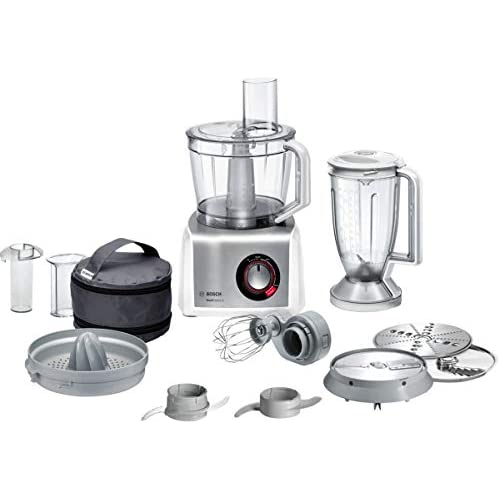 41yjs4NUFqL. SS500  - Bosch MutiTalent8 MC812S734G Food Processor, Plastic, 1200W - White/Stainless Steel