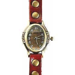 Armbanduhren Leder Modeschmuck Uhr Damen Xena Rot Geschenk Damen