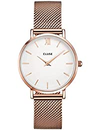 Watch Cluse Minuit Mesh Rose Gold / White CL30013