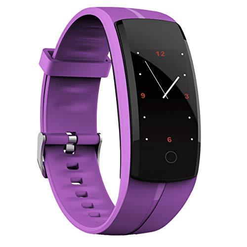 Orologio Fitness Bracciali Zeerkeer Smart Braccialetto per Fitness Activity Tracker con Cardiofrequenzimetro Touch Screen Smartwatch per IOS Android Huawei con Monitoraggio del Sonno(Viola)