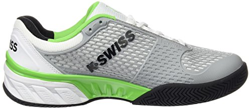 K-Swiss Bigshot 2.5Chaussures, homme blanc / noir / vert