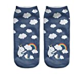 DESIGN FREUNDE 2 Paar Smiley Socken Strümpfe Socks Füßlis Miederwaren Strumpfhose 2 Paar Smiley Love Socken 2 Paar Smiley 2 Paar Regenbogen Einhorn Socken
