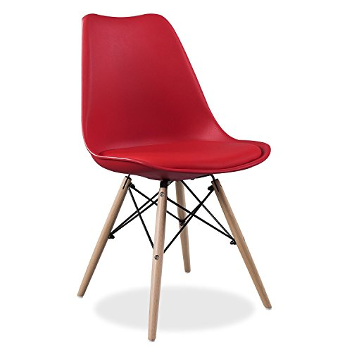 SuperStudio lo+demoda Wooden Cushy Silla, Madera, Rojo, 60x50x5.5 cm