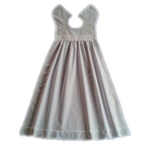 Taufaufleger Baumwolle mit Spitze verziert, Unisex, als Taufbekleidung für Jungen und Mädchen geeignet.