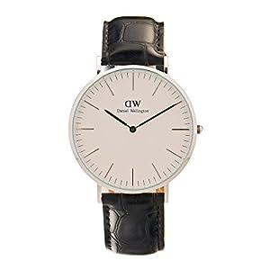 Daniel Wellington 0214DW - Reloj con correa de acero para hombre, color blanco / gris de Daniel Wellington