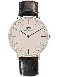 Daniel Wellington 0214DW - Reloj con correa de acero para hombre, color blanco/gris