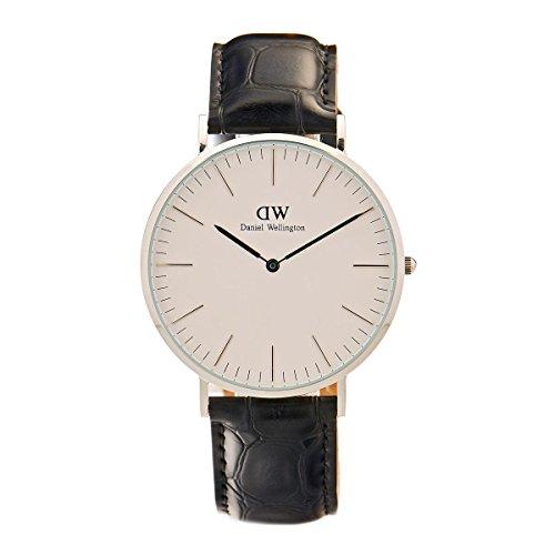 Daniel Wellington 0214dw-Watch with Steel Strap for Man, White/Grey