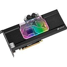 Corsair Hydro X Series, XG7 RGB 20-SERIES GPU Water Block for NVIDIA GeForce RTX 2080 Founders Edition (Precision Construction, Aluminium Backplate, Flow Indicator, Customisable RGB Lighting), Black