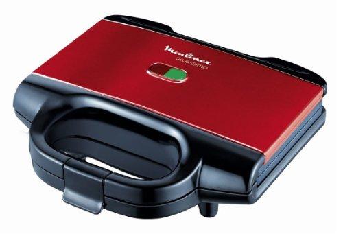 Moulinex Accessimo SM180811 Sandwichera, 650 W, Revestimiento Antiadherente, Rojo/Negro