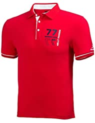 Helly Hansen HP Racing - Polo para hombre, color rojo, talla L
