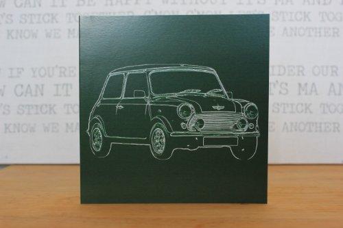 Austin Mini Cooper-Biglietto di auguri Card- Retro Motor Company