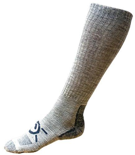 Kakuetta Trail Merinowolle Socken, Wandersocken, Herren und Damen für Outdoor, Innenbereich, Arbeit und mehr (geringes Gewicht), Herren, grau, Medium