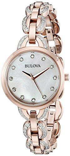 Bulova Femme montre de cristal, 98l207