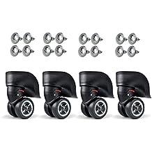 Vanyuda - Ruedas de transporte de repuesto para manualidades, con tornillo, negras
