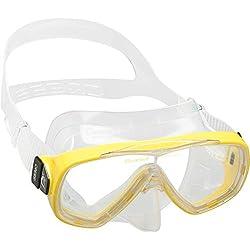 Cressi Sub S.p.A Onda Masque de plongée Mixte Adulte, Transparent/Jaune