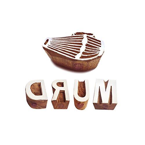 Royal Kraft Alphabete Drucken Stempel Kreativ Drum Lehrreich Gestalten Holzblöcke (Set von 5)