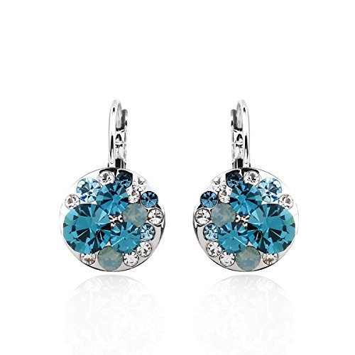 park-avenue-boucles-doreilles-disc-turquoise-made-with-crystals-from-swarovski